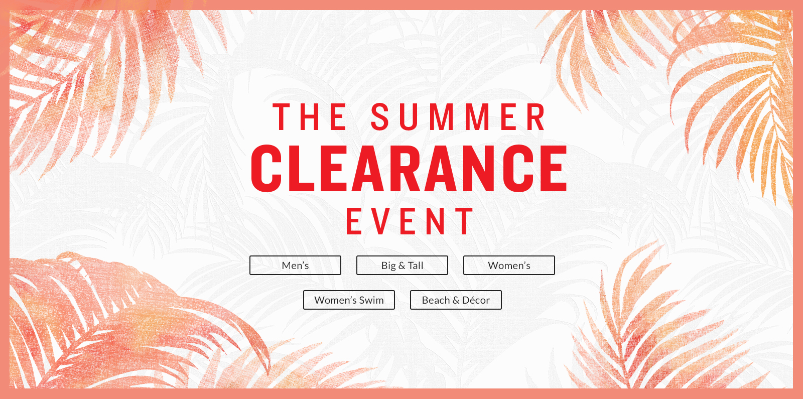 The Summer Clearance Event