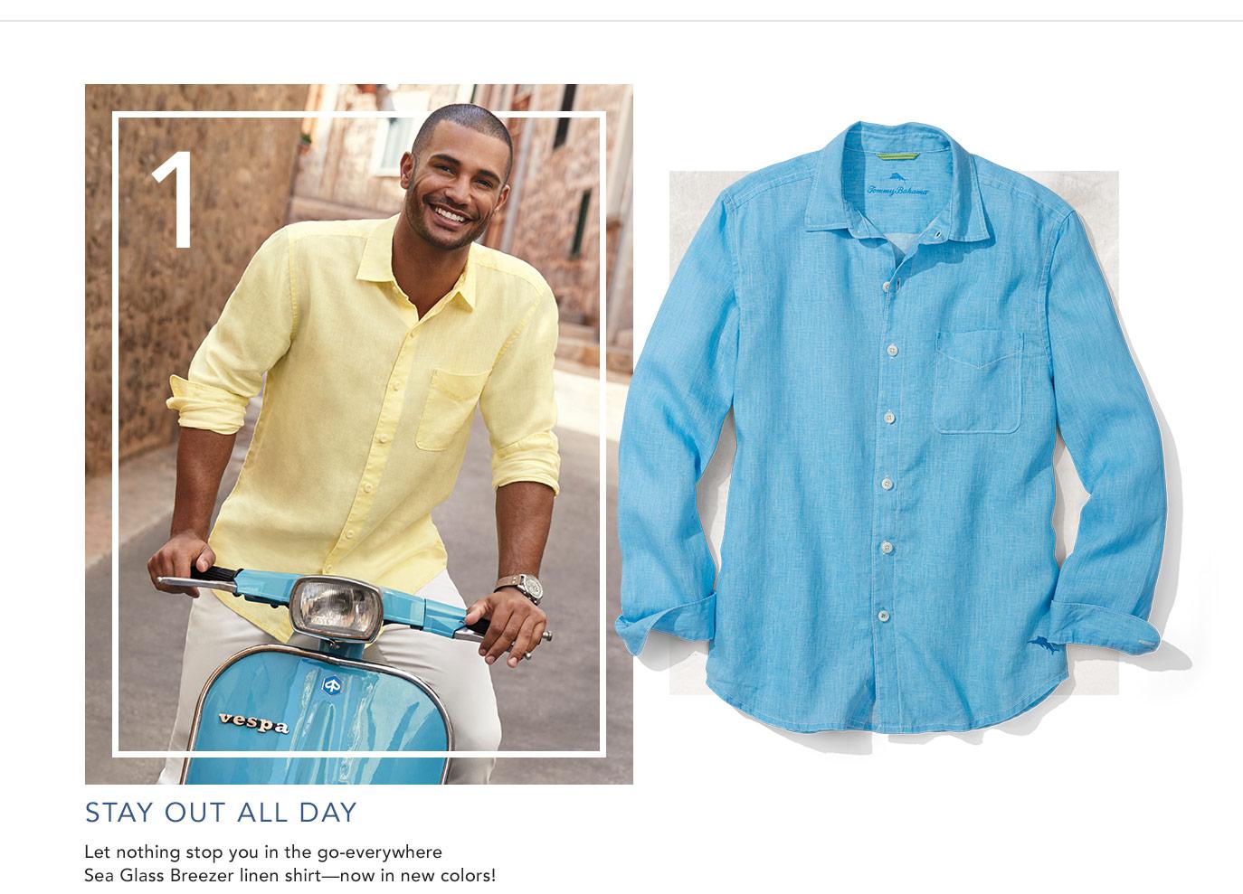 d86d316c13eba Sea Glass Breezer Linen Shirt