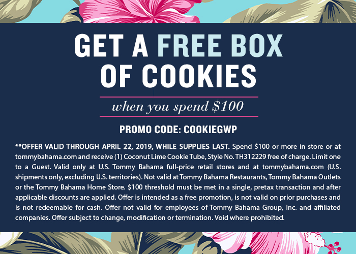 Get a Free Box of Cookies When You Spend $100 April 19-22