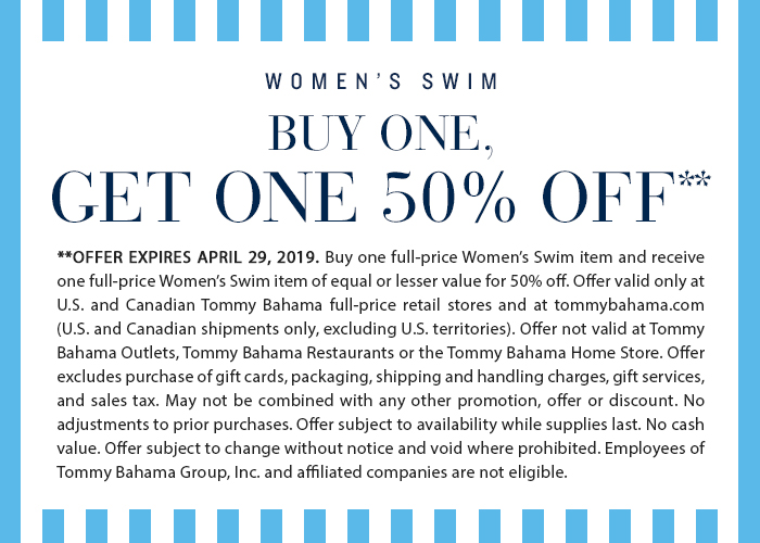 Women's Swim: Buy One, Get One 50% Off April 23-29