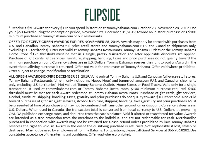 Flipside: Get a $50 Award for Every $175 You Spend