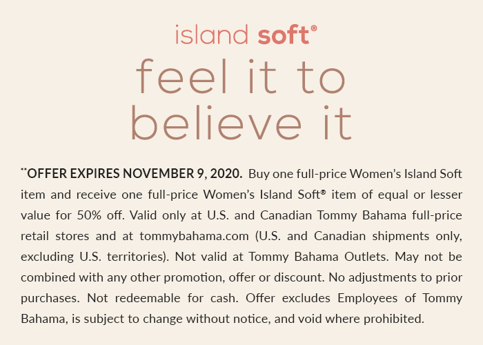 Island Soft: Buy One, Get One 50% Off