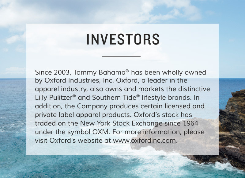 About Tommy Bahama: Investors