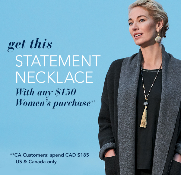 Get This Statement Necklace With Any $150 Women's Purchase