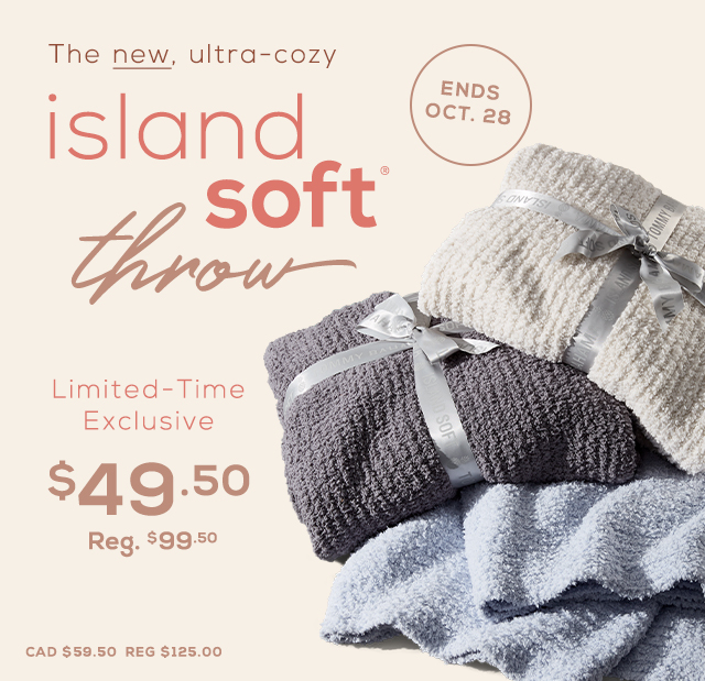 Island Soft Throw Limited-Time Exclusive Savings