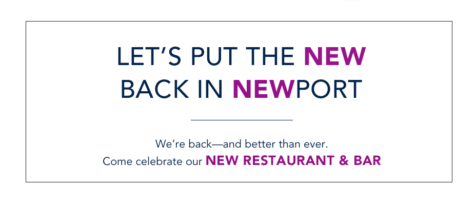 Celebrate Our New Restaurant & Bar