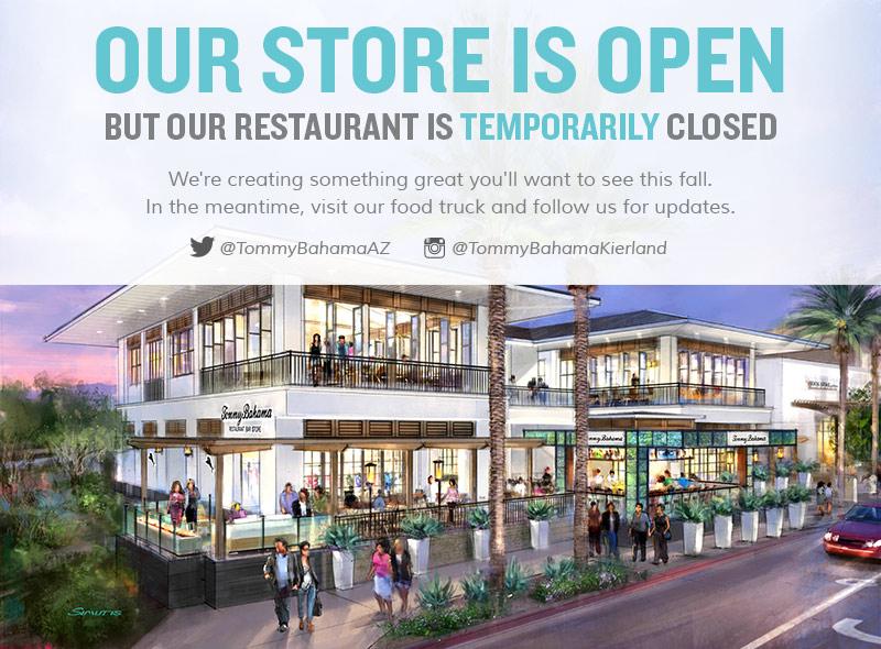 Tommy bahama stores restaurants scottsdale for Fish restaurants in scottsdale