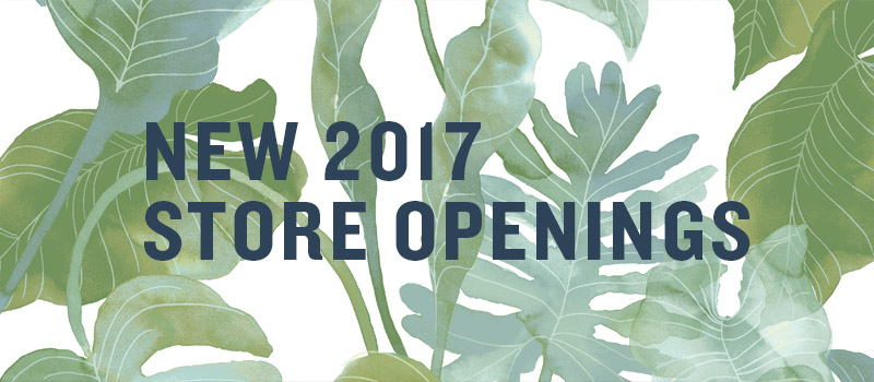 New 2017 Store Openings
