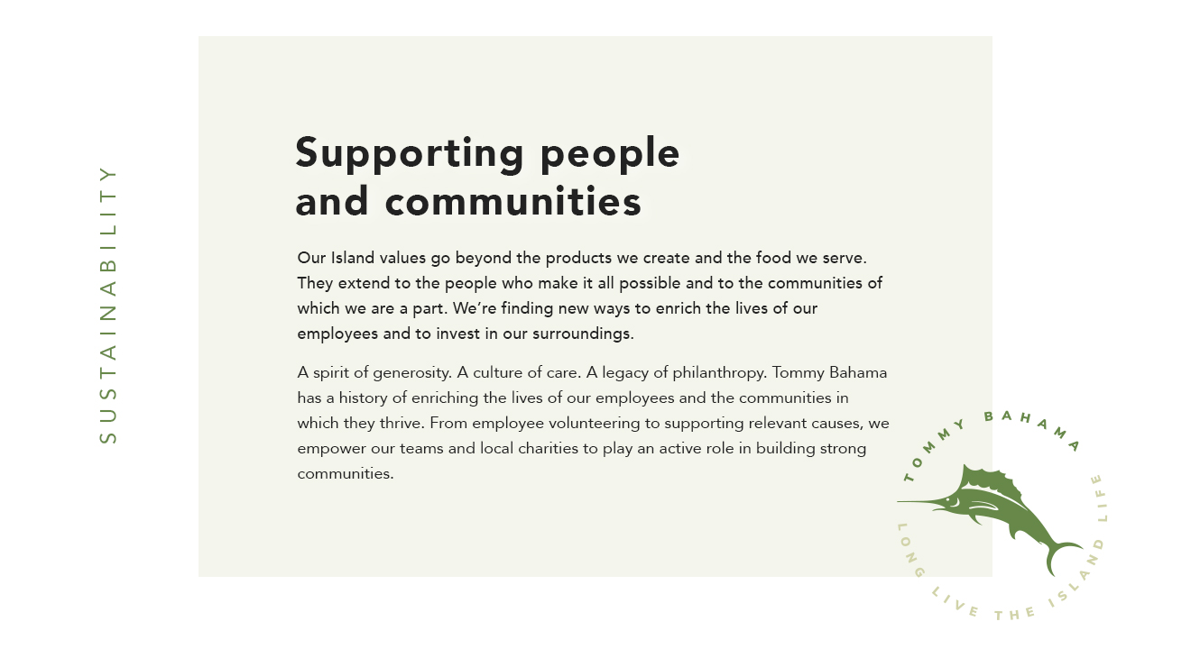 Supporting people and communities