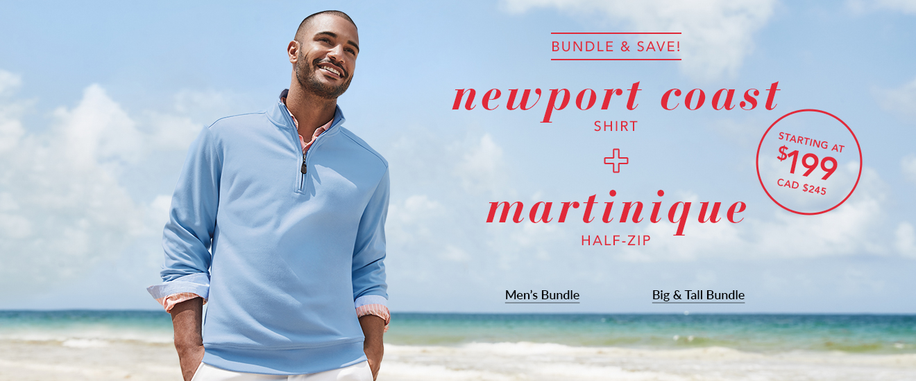 Bundle & Save! Newport Coast Shirt + Martinique Half-Zip
