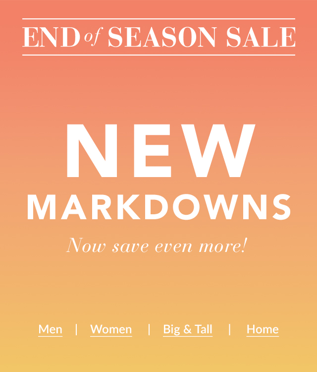 End Of Season Sale | New Markdowns