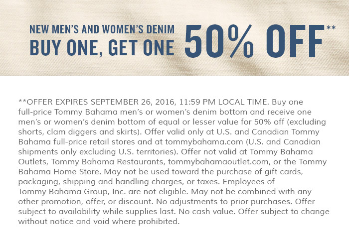 New denim: buy one, get one 50% off