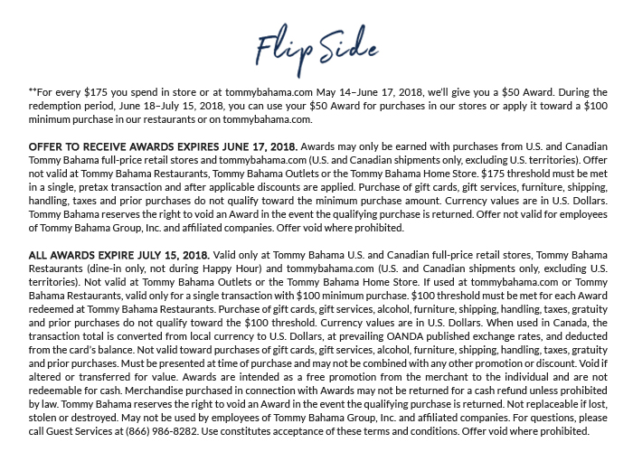 Flip Side: Get a $50 Award for Every $175 You Spend