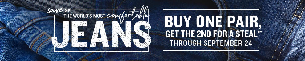 Save on the World's Most Comfortable Jeans