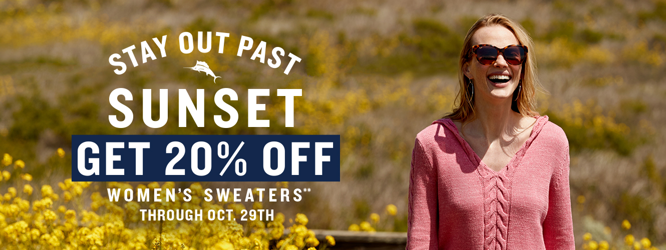Get 20% Off Women's Sweaters**