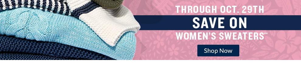 Save on Women's Sweaters through October 29th