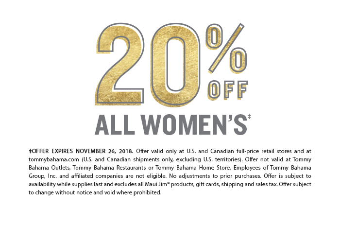 20% Off All Women's
