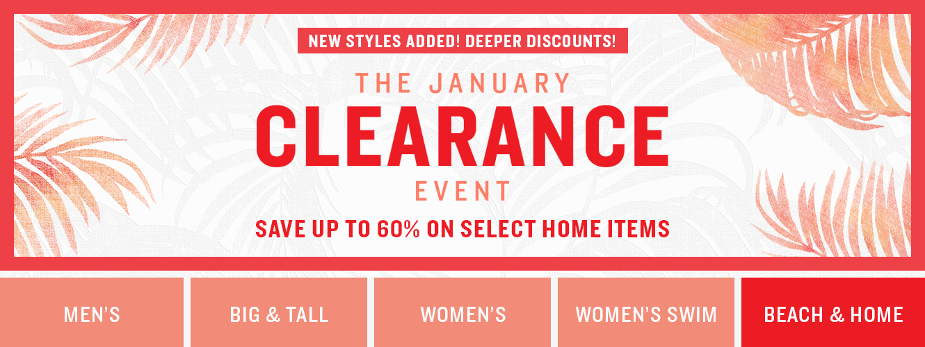 January Clearance Event