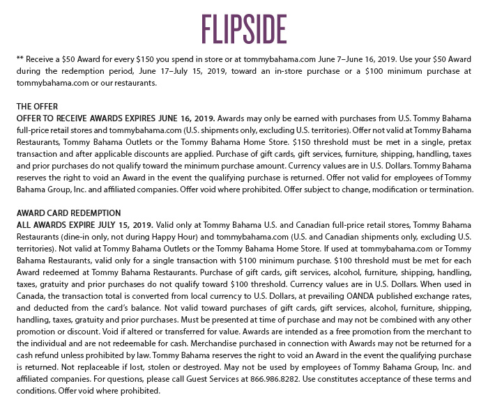 Flipside; Get a $50 Award for Every $150 You Spend