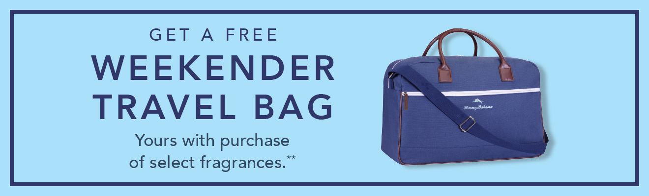 Get a free weekender travel bag with select fragrance purchase