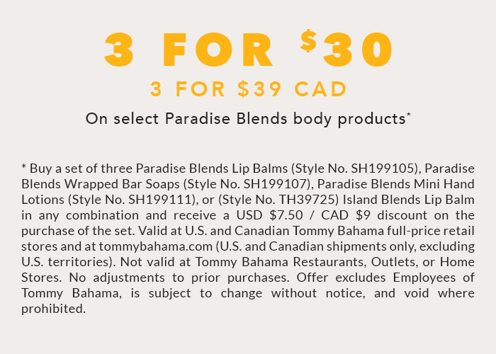 Buy 3 Paradise Blends Body Products and Save