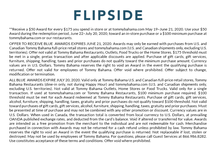 Flipside: Get a $50 Award for Every $175 You Spend**