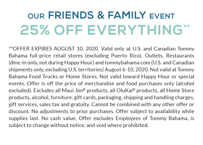 Friends & Family Event Save 25%