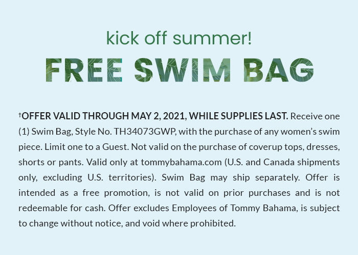 Free Swim Bag with any Women's Swimsuit Purchase