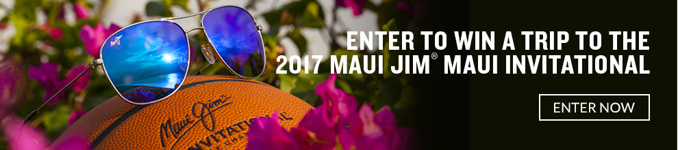 Enter to win a trip to the 2017 Maui Jim Maui Invitational