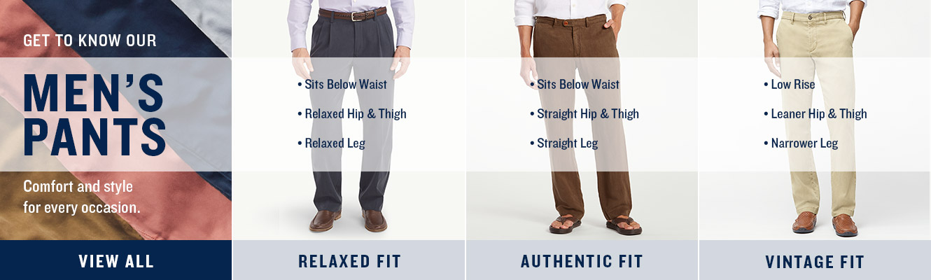 Get To Know Our Men's Pants