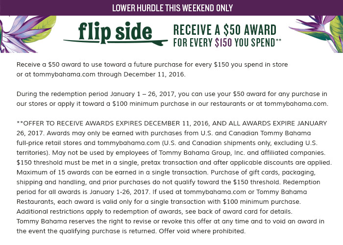 Flip Side: receive a $50 award for every $150 you spend