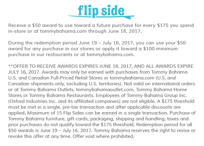 Flip Side: receive a $50 award for every $175 you spend