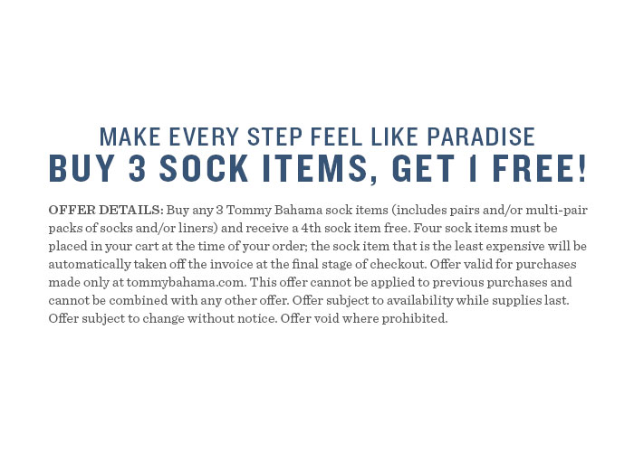 Buy 3 sock items, get 1 free